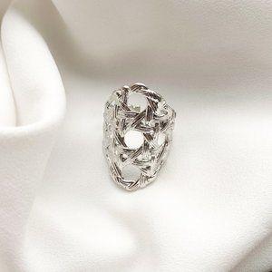 Kendra Scott Natalie Statement Ring In Silver M/L